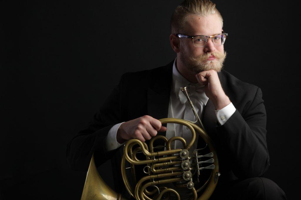 John Turman, Principal Horn, Seattle Symphony Headshot